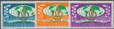 Samoa SG310-2 Human Rights Year set of 3